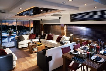 Luxusyachten innenausstattung  Luxusyacht Sunseeker 84 Predator mieten Spanien Mittelmeer Ibiza ...
